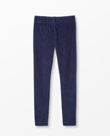 Hanna Andersson Ribbed Velour Leggings in Navy - m