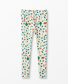 Hanna Andersson Printed Slim Leggings in Ecru Mult