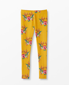 Hanna Andersson Printed Slim Leggings in Golden Ho