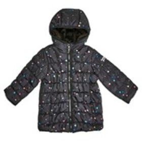OSHKOSH Girls Print Long Hooded Puffer Jacket (4-6