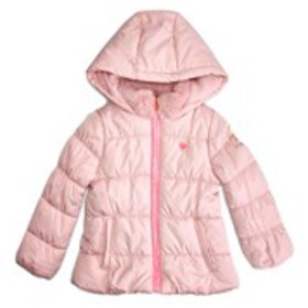 OSHKOSH Girls Hooded Puffer Jacket with Faux Fur C