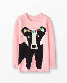 Hanna Andersson Critter Marshmallow Sweater in Hap