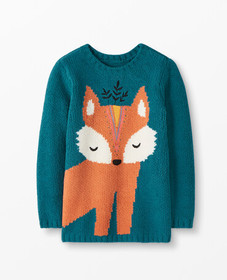 Hanna Andersson Critter Marshmallow Sweater in Tre