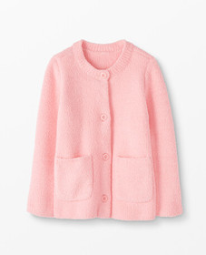Hanna Andersson Marshmallow Cardigan in Happy Pink