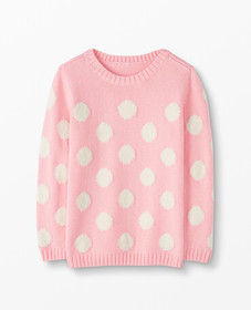 Hanna Andersson Marshmallow Dot Sweater in Happy P