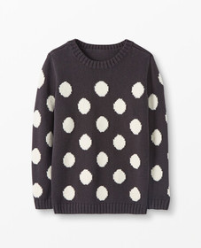 Hanna Andersson Marshmallow Dot Sweater in Soft Bl