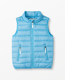Hanna Andersson Superlight Down Vest in Map Blue -