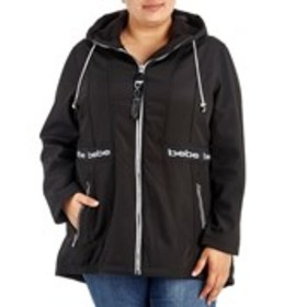 BEBE SPORT Plus Size Logo Accented Flexible Jacket
