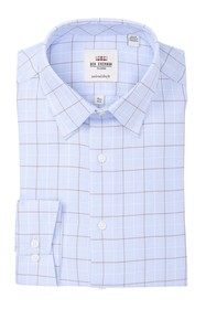 Ben Sherman Windowpane Slim Fit Dress Shirt