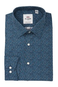 Ben Sherman Mini Flower Slim Fit Dress Shirt