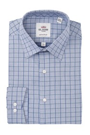 Ben Sherman Checkered Slim Fit Dress Shirt