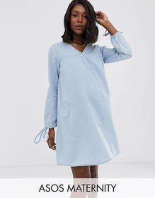 ASOS DESIGN MATERNITY Denim Exclusive Smock Dress