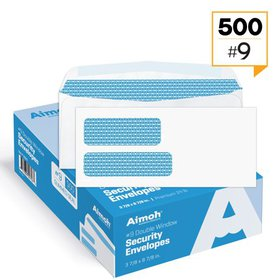 #9 Double Window Security Tinted Self-Seal Envelop