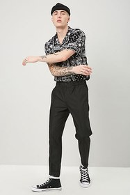 Forever21 Straight-Leg Cuffed Pants