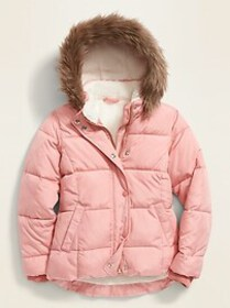 Frost-Free Water-Resistant Sherpa-Lined Puffer Jac