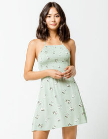 MIMI CHICA Floral Smock Square Neck Dress_