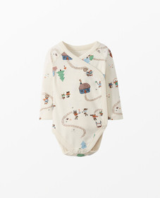 Hanna Andersson Wrap + Snap One Piece In Organic C