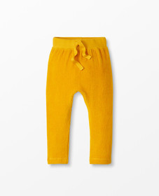 Hanna Andersson Soft Velour Pants in Golden Hour -