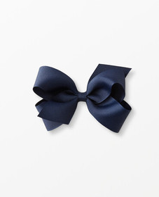 Hanna Andersson Ribbon Bow Clip in Navy - main