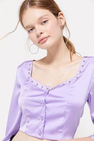 PASTICHE Isabel Studded Satin Blouse