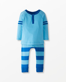 Hanna Andersson Sueded Jersey Tee + Pant Set in Ba