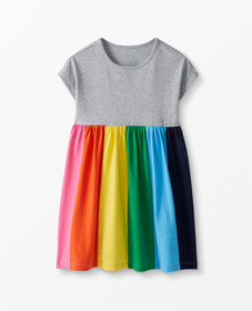 Hanna Andersson Rainbow Swing Dress in Multi - mai