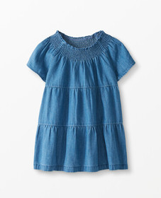 Hanna Andersson Twirly Chambray Popover in Light-M