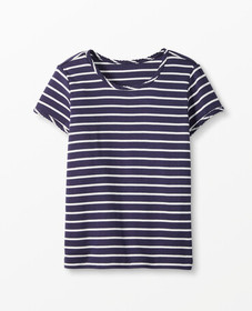 Hanna Andersson Bright Basics Stripe Pima Tee in N