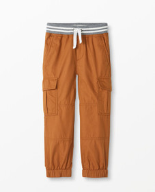 Hanna Andersson Double Knee Peached Canvas Joggers