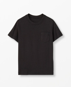 Hanna Andersson Bright Basics Pima Tee in Black -
