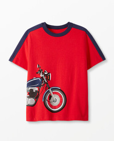 Hanna Andersson Sueded Jersey Art Tee in Hanna Red