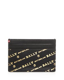 Bally - Embossed Leather Card Case