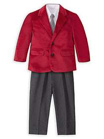 Nautica Baby Boy's 4-Piece Suit Set ROOSTER MULTI