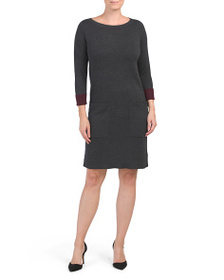 NICOLE MILLER Sweater Dress With Patch Pockets