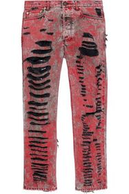 GUCCI Distressed painted straight-leg jeans