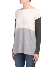 VINCE CAMUTO Color Block Boat Neck Sweater