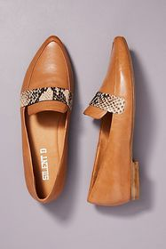 Anthropologie Silent D Pointed Toe Loafers