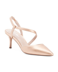 CHARLES BY CHARLES DAVID Metallic Pointy Toe Strap