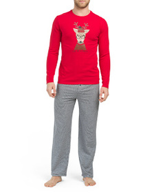 ISAAC MIZRAHI Cool Guy Reindeer Top With Candy Can