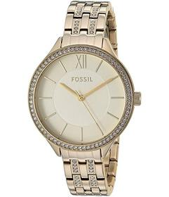 Fossil Suitor Three-Hand Gold-Tone Stainless Steel