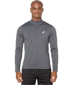 ASICS Silver Long Sleeve 1\u002F2 Zip Winter Top