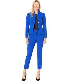Tahari by ASL Stand Collar Jacket and Pants Set