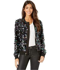 Juicy Couture Iridescent Paillettes Bomber Jacket