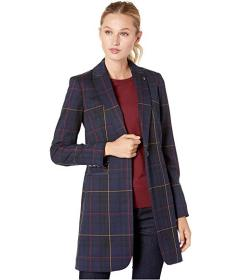 Tommy Hilfiger Windowpane One-Button Topper