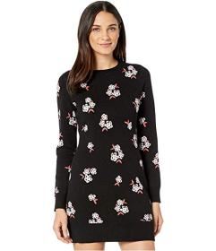 Juicy Couture Tossed Floral Jacquard Sweater Dress