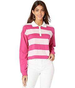 Juicy Couture Long Sleeve Color Block Rugby Tee