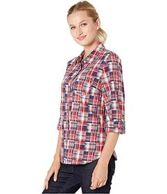 Tommy Hilfiger Roll Tab Blouse - American Patch