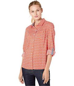 Tommy Hilfiger Roll Tab Blouse - Floral