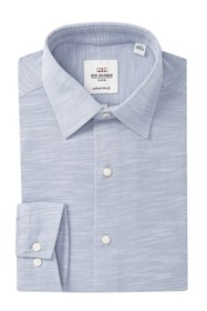 Ben Sherman Tailored Slim Fit Knit Dress Shirt