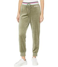 Juicy Couture Embroidered Juicy Logo Velour Pants